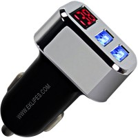 DUO USB Smart Charger + Car Battery Voltage Display